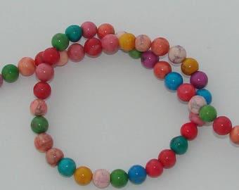 5 diameter 8mm natural howlite beads