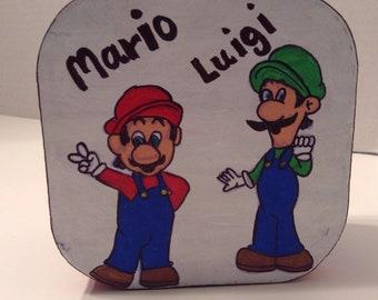Mario and Luigi trinket box