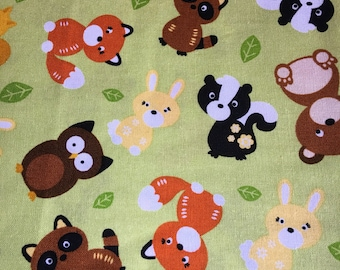 Woodland Pals - Cotton- BTY - 2 yard