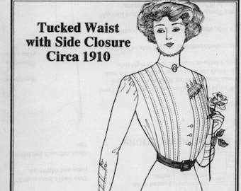 PP406 - Past Patterns #406 - 1920 Tucked Waist with Side Closure Sewing Pattern