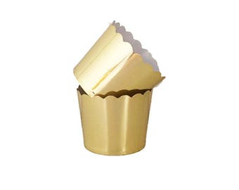 Cupcake wrappers wedding - gold - cupcake wrappers - glamorous