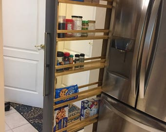 Hand Made Pull-out Pantry, Cabinet for Kitchen, bathroom, Solid wood, Customize