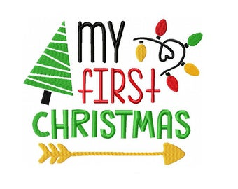 My First Christmas Machine Embroidery Digital Download