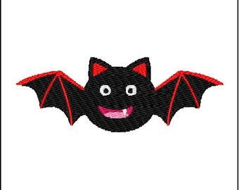 Halloween Bat Embroidery Pattern Design