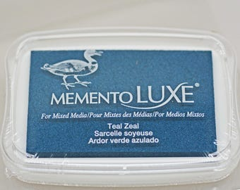 Memento Luxe Stamp Pad -- Teal Zeal -- Mixed Media Full Size Stamp Pad
