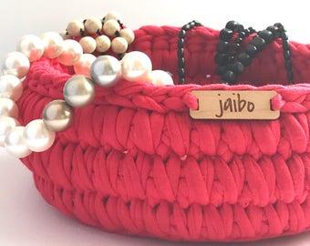 Crochet Basket - Red