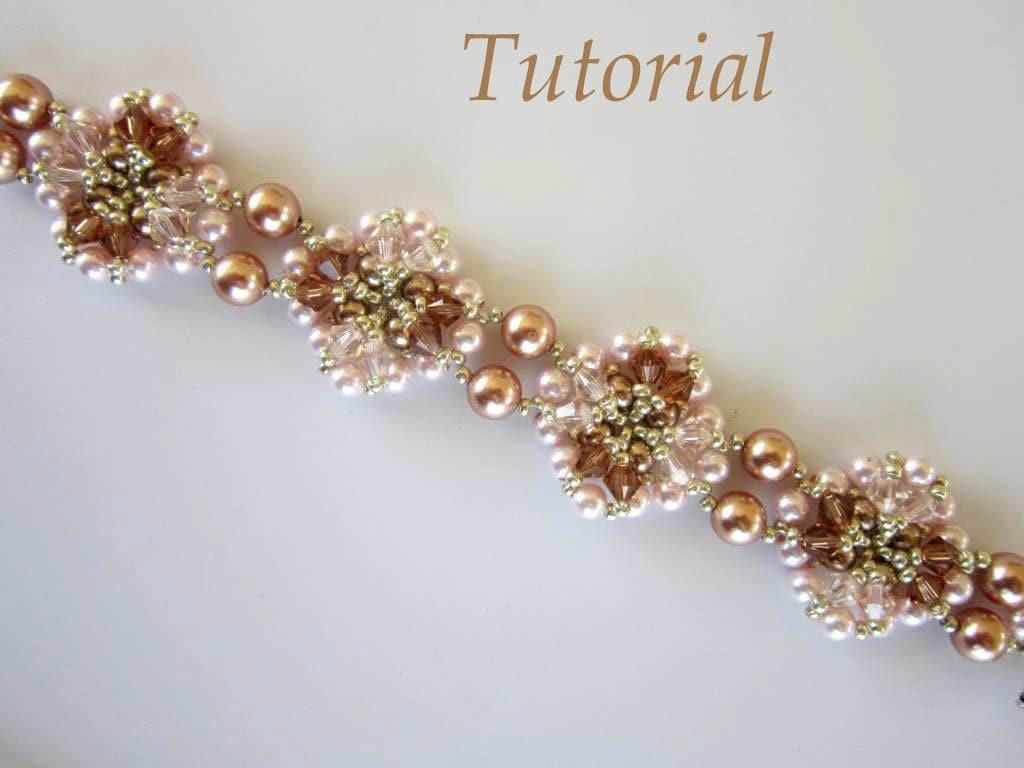 Pdf beaded bracelet tutorial seed bead swarovski crystal zoom baditri Choice Image