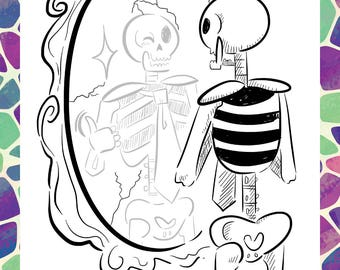 Greeting Card - Skeleton Joe Mirror