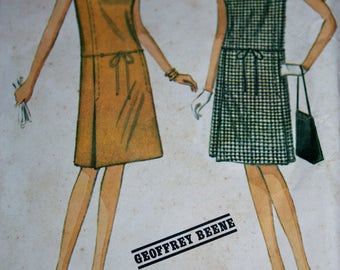 New York Designers Collection Dress Pattern by Geoffrey Beene---McCalls 8004---Size 12 Bust 32