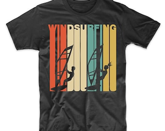 Retro 1970's Style Windsurfing Windsurfer T-Shirt by Really Awesome Shirts