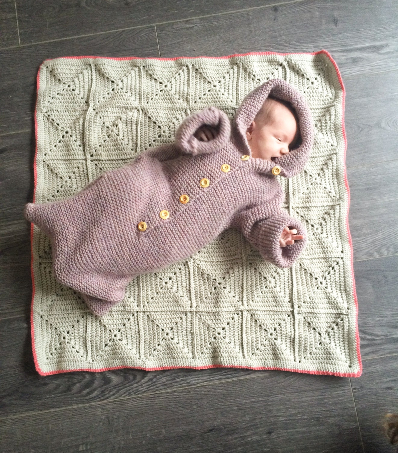 Baby Bunting Bag Knit Baby Bunting Bag Bunting Bag Size 1