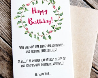 Funny Printable Birthday Card - Birthday Card for Boozy Friend