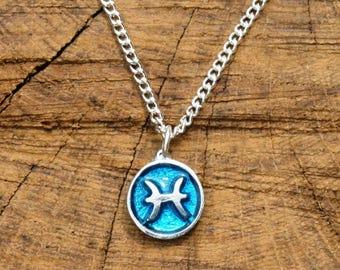 Pisces Necklace & Pendant Ladies Horoscope Gift