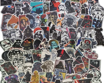 100 Very Cool Star Wars Stickers decal star wars vinyl, star wars car decal, death star sticker, darth vader stickers, starwars stickers