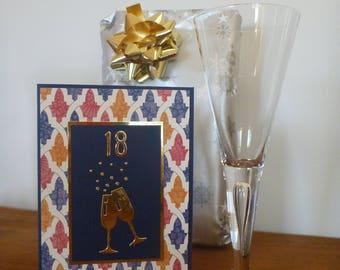 Stylish Twenty First Birthday Card FREE SHIPPING