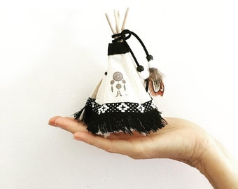 Tiny Teepee Cake Topper Monochrome Play Tent Birthday Party