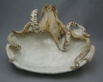 Large Ceramic Octopus Platter by Shayne Greco Beautiful Mediterranean Pottery