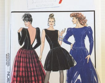 Vintage Style sewing pattern 1462 - Misses' evening dress in two lengths - party dress size 12-14-16