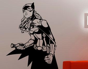 Batgirl Wall Decal Superhero Stickers Comics Wall Art Wall Decals for Bedroom Vinyl Art Nursery Wall Art Waterproof Stickers 7bzz
