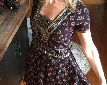 Bohemian Style Dress With Beaded details