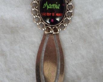 "Bookmarks gift Grandma ""our Grandma she is awesome"" metal silver/gift/mother grandmother/mother of grandmas"