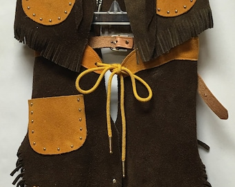 M&F Suede Leather Chap Set for Kids size S