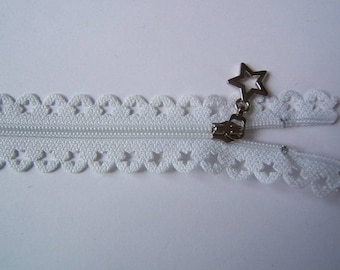 Edward closure lace star 25 cm white