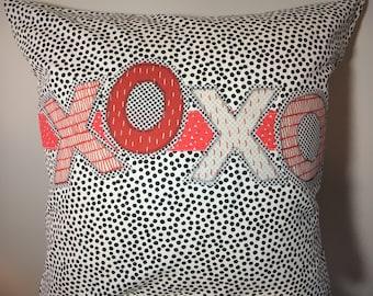 XOXO Valentine's Throw Pillow