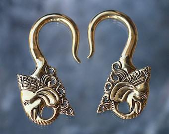 Brass ear weights Bali Ganesha