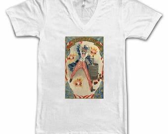 Beer T-shirt-Ladies  4th of July