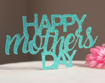 Mothers Day Cake topper, Flower stake