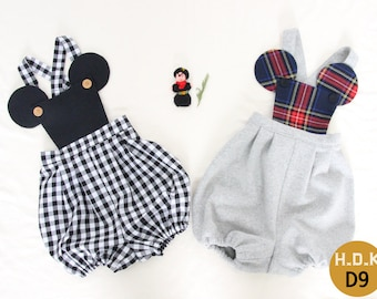 Kid's romper/ kid's sewing pattern pdf/mickey mouse kids romper / Body suits/ children clothing/Toddler sewing pattern/ 2T-7years