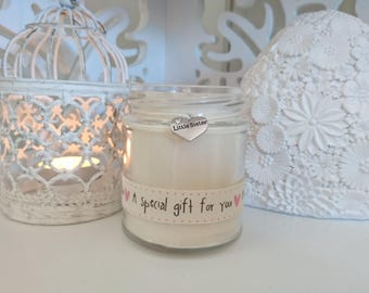 Little Sister (pink special gift) Scented Soy Candle Gift