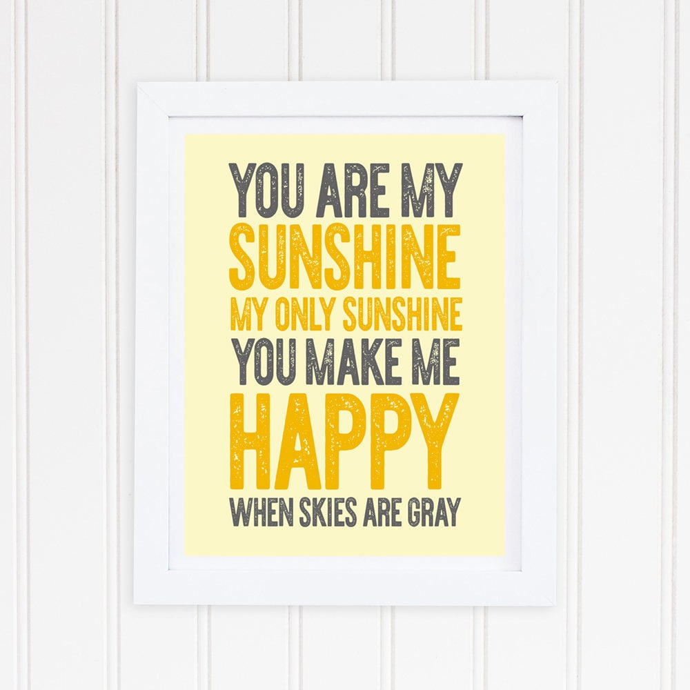 you are my sunshine wall art you are my sunshine neutral