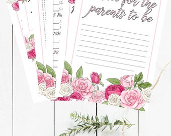 Baby Shower Games Bundle - Rose Baby Shower Pack - Floral