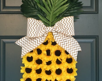 Pineapple wreath door hanger!