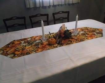Autumn Vegetables Thanksgiving Table Runner
