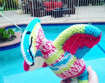 Pink Pterodactyl, Yellow Dinosaur, Blue Pteranodon, Flying Dinosaur, Pterodactyl Toy, Rainbow Dinosaur, Pink Dinosaur Toy, Handmade Dinosaur