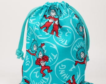 Dr Seuss, Thing 1 & Thing 2, Birthday Party, Party Bags, Candy Bags, Treat Bags, Favor Bags, Goodie Bags, Fabric Bags