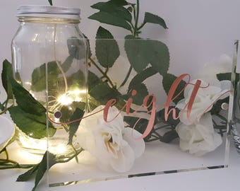 Acrylic Freestanding Table Numbers