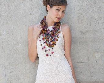 Acai Seed Necklace / Long Necklace / Acai Seed Jewelry / Seed Jewelry / Fair Trade / Long Layering Necklace / Acai Necklace