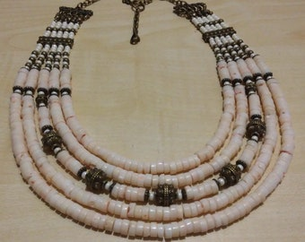 White Coral Necklace Custom length necklace coral necklace ethnic jewerly pink coral jewerly Coral Holiday Wedding jewelry Wedding coral