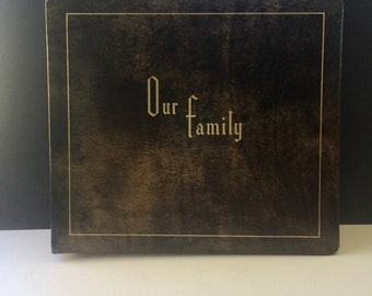 Vintage Family Album and Scrapbook