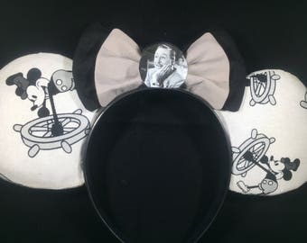 Classic Steamboat Mickey Inspired Ears