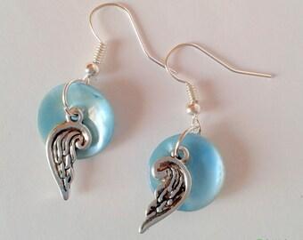 Blue Wings earrings