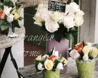 France photography, flower market, Marché aux Fleurs, Paris, photographic print, travel photo