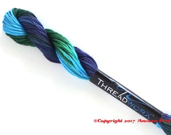 Variegated Embroidery Floss ThreadworX 1138 Mosaic
