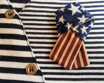 Old Glory Pin, Patriotic Pin, Stars and Stripes Pin, Red, White and Blue Pin, American Pin, Vintage Theme Patriotic Pin, USA Pin