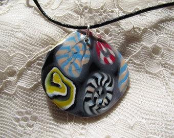 Unique handmade fimo choker necklace.