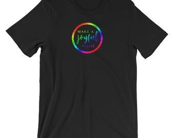 Make A Joyful Noise V3- Musician Shirt - Mens Short Sleeve T-Shirt - Gift For Musician - Joyful T-Shirt